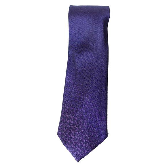MICHAEL KORS Purple Tonal Degrade Logo Silk Tie